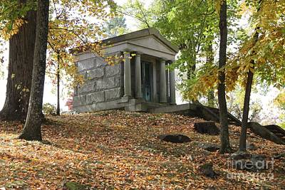 Photograph - Sleepy Hollow Cemetery Mausoleum by John Telfer