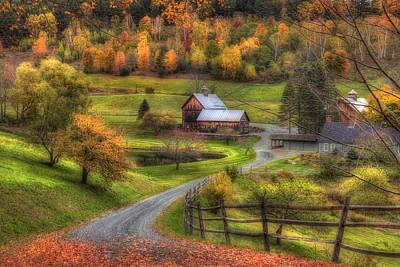 Autumn In New England Photograph - Sleepy Hollow Farm 2 by Joann Vitali
