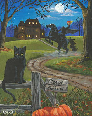 Sleepy Hollow-katrina's Cat Art Print by Misty Walkup