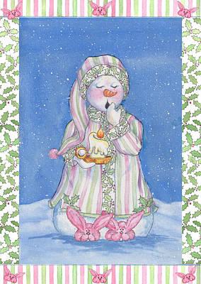 Sleepy-time Snowgal Art Print