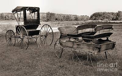 Photograph - Sleigh And Buggy by Janice Drew