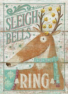 Sleigh Bells Ring Art Print by P.s. Art Studios