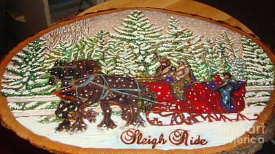 Pyrography - Sleigh Ride by Dakota Sage