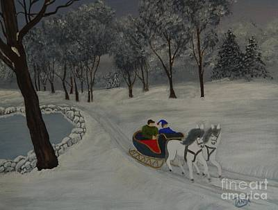 Painting - Sleigh Ride by Tanja Beaver
