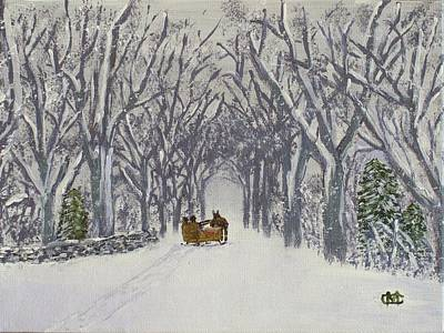 Painting - Sleigh Ride Through Time by Cynthia Morgan