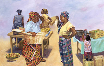 Basket Painting - Sleight Of Hand by Colin Bootman