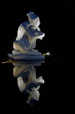 Photograph - Slene Moon Goddess At Night by Jerry Gammon