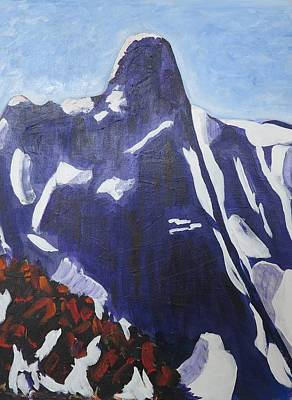 Final Resting Place Painting - Slesse--ne Buttress by Richard Dorling