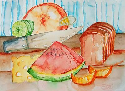Slice It Art Print by Elaine Duras