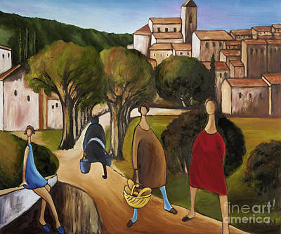 In Earth Tones Painting - Slice Of Life 2 Provence by William Cain