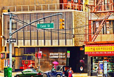 Revolutionary War Art - Slice of Life NYC-Canal Street by Regina Geoghan