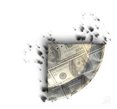 Slice Of Us Dollar Money Pie Art Print