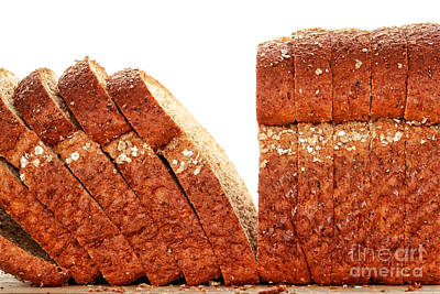 Whole Wheat Photograph - Sliced Bread by Olivier Le Queinec