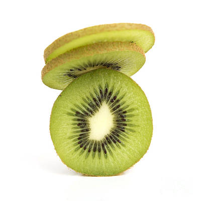 Kiwi Photograph - Sliced Kiwis by Bernard Jaubert