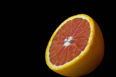 Fruit Photograph - Sliced Orange by Mark McKinney