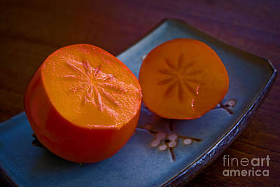 Photograph - Sliced Persimmon by Morgan Wright