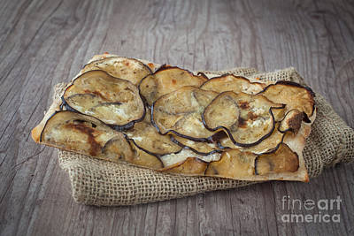 Sliced Pizza With Eggplants Art Print