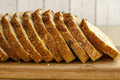 Slices Of Whole Grain Bread Art Print by Teri Virbickis