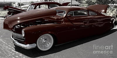 Photograph - Slick And Sleek  1950 Custom Mercury by Deborah Fay