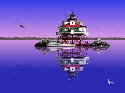 Slick Cam At Thomas Point Art Print by Patrick Belote