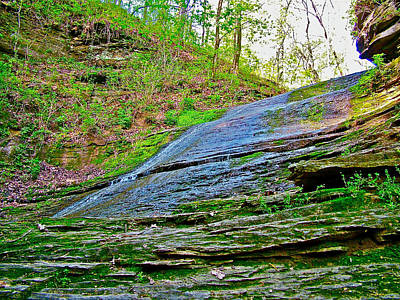 Slick Rock At Jackson Falls On Mile 405 Of Natchez Trace Parkway-tennessee  Art Print by Ruth Hager