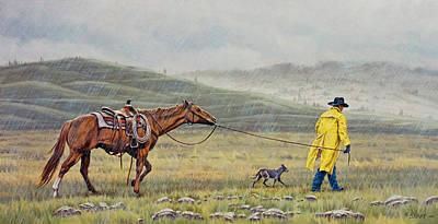 Slicker Weather Art Print by Paul Krapf