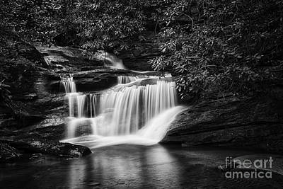 Photograph - Slickum Creek Bw by David Waldrop