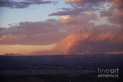 Photograph - Slide Fire Sunset by Ron Chilston