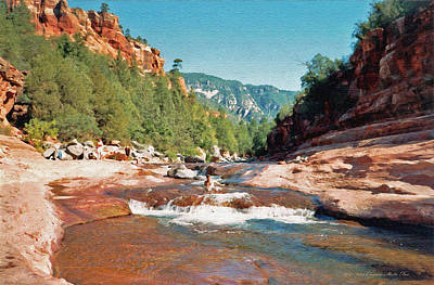 Photograph - Slide Rock In Sedona by Connie Fox
