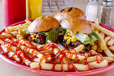 Slider Photograph - Sliders And Fries by Teri Virbickis