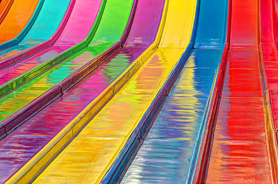 Sliding Into Summer Fun Art Print