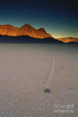 Photograph - Sliding Rock On Racetrack Playa by George Ranalli