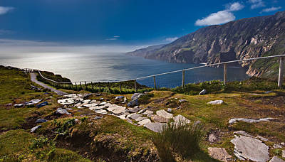 Slieve League Photograph - Slieve League Cliff Path In Donegal - Ireland by Barry O Carroll