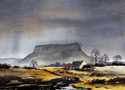 Mixed Media - Sligo Ben Bulben by Val Byrne