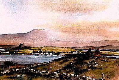 Mixed Media - Sligo  Towards Knocknarea by Val Byrne