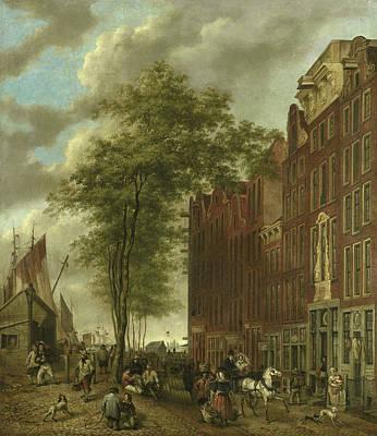 Amsterdam Drawing - Slijpsteenmarkt, Whetstone Market In Amsterdam by Litz Collection