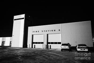 slimmon road fire station Saskatoon Saskatchewan Canada Art Print by Joe Fox