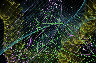 Party Digital Art - Slinky Celebration by Camille Lopez