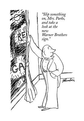Theater Drawing - Slip Something by James Thurber