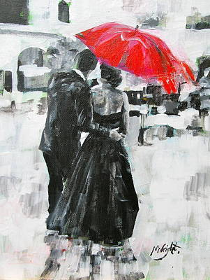 Black Tie Painting - Slipped Away by Molly Wright