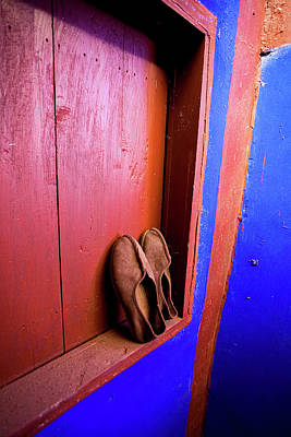 Lama Photograph - Slippers Of A Buddhist Monk At The Lama by Miva Stock