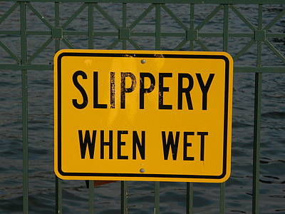 Valerie Paterson Wall Art - Photograph - Slippery When Wet by Valerie Paterson