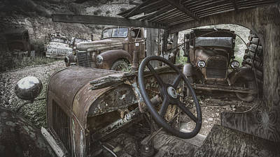 Antique Automobile Photograph - Slipping Away by Sean Foster