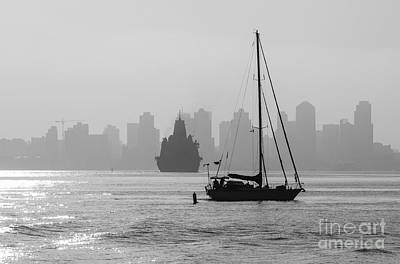 Slipping Into Port 5-2628-2 Art Print by Stephen Parker