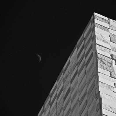 Photograph - Sliver Moon And Wall by Eric Tressler