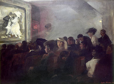 Movie Theater Painting - Sloan Nickelodeon, 1907 by Granger