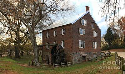 Sloan Park Grist Mill Art Print by Adam Jewell