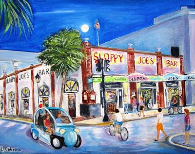 Painting - Sloppy's Nightlife by Linda Cabrera