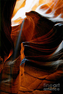 Architecture Photograph - Slot Canyon  8 by Linda  Parker