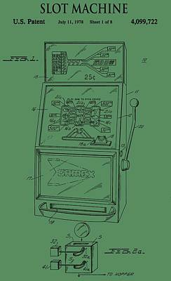 Target Threshold Nature - Slot Machine Patent On Green by Dan Sproul